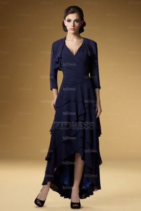 A-Line/Princess V-neck Floor-length Chiffon Mother of the Bride Dress - IZIDRESSES.com at IZIDRESSES.com