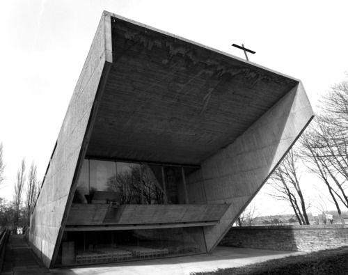 Kerselare Chapel, Oudenarde, 1964–66: Juliaan Lampens: Brutality Today, Pilgrimag Chapel, 196466, Church Kerselar, Kerselar Pilgrimag, Architecture Residential, Brutality Church, Juliaan Lampens, Kerselar Chapel