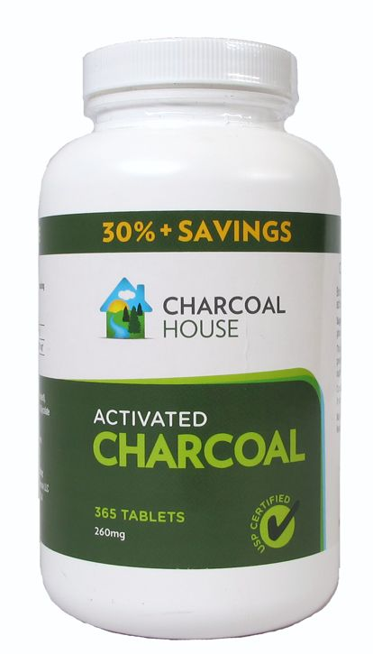 Activated Charcoal Tablets 365 count