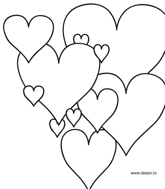 nice heart coloring pictures Free Download