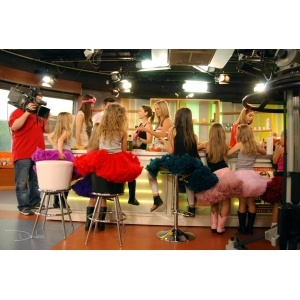 DOLLY & TV morning show, girls showing DOLLY skirts