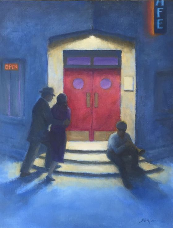 Buy Jazz Cafe, Oil painting by Michael Gillespie on Artfinder. Discover thousands of other original paintings, prints, sculptures and photography from independent artists.