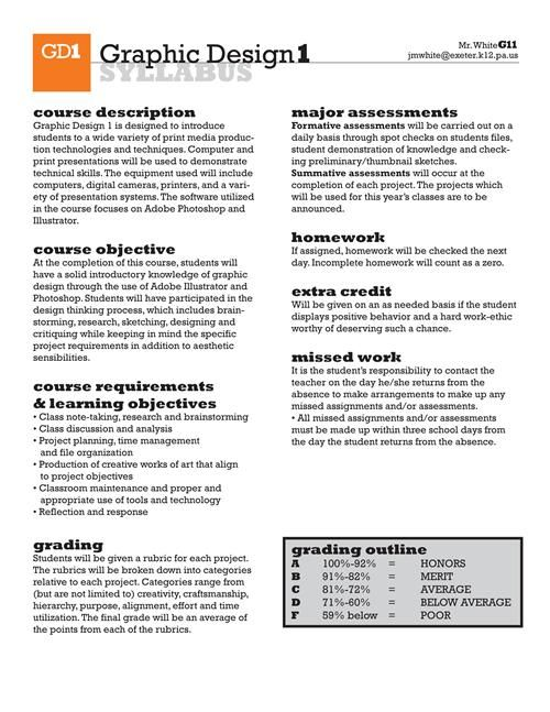 Syllabus Graphic Design Google Search High School Syllabus