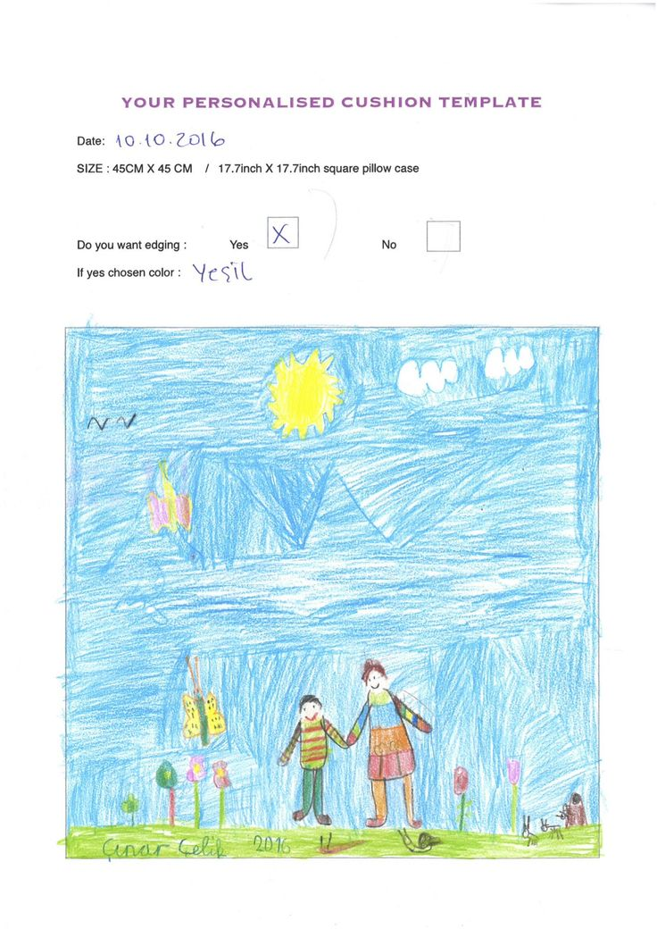 You #draw on this template before I make a #pillow of this #ART :) #Children should be #happy all the time.