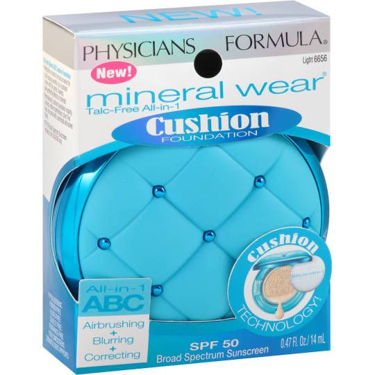 Physicians Formula Mineral Wear All-In-One ABC Cushion FoundationWhat it is: A compact sponge soaked in lightweight, mineral based foundation What it does: Provides convenient, portable packaging for...