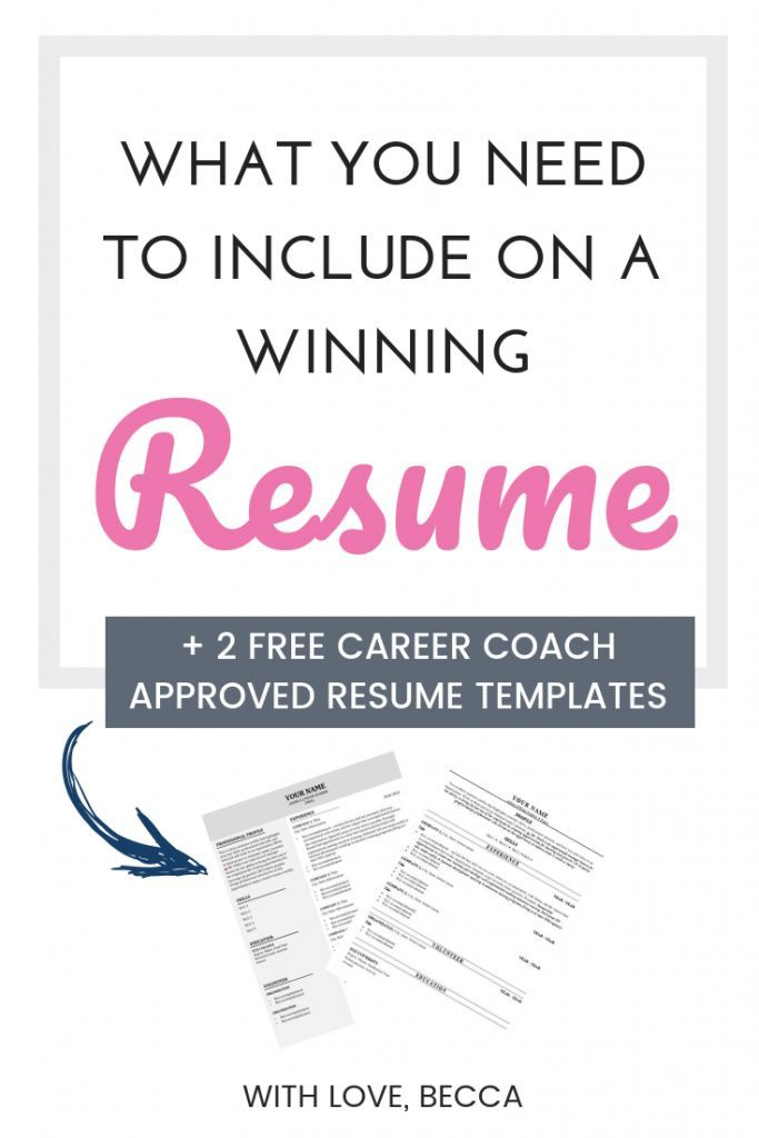 How To Write A Winning Resume Take Your Resume From Meh
