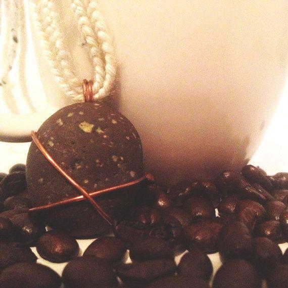 Beach Pebble Necklace  Raw Stone Jewellery  by SoulAndStoneStudio