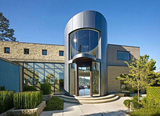 Moderna casa de paredes curvas con vista a Bahía de San Francisco | ArQuitexs