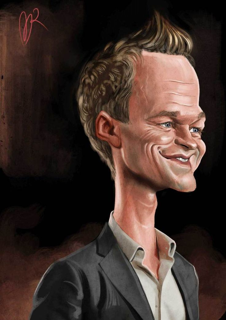 Neil Patrick Harris Caricature by Marzio Mariani. #Celebrity #Caricatures #Oddonkey