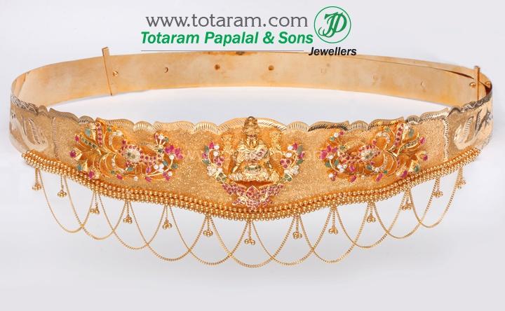 22K Gold Lakshmi Vaddanam, Oddiyanam, Waist Belt, Kammar Patta