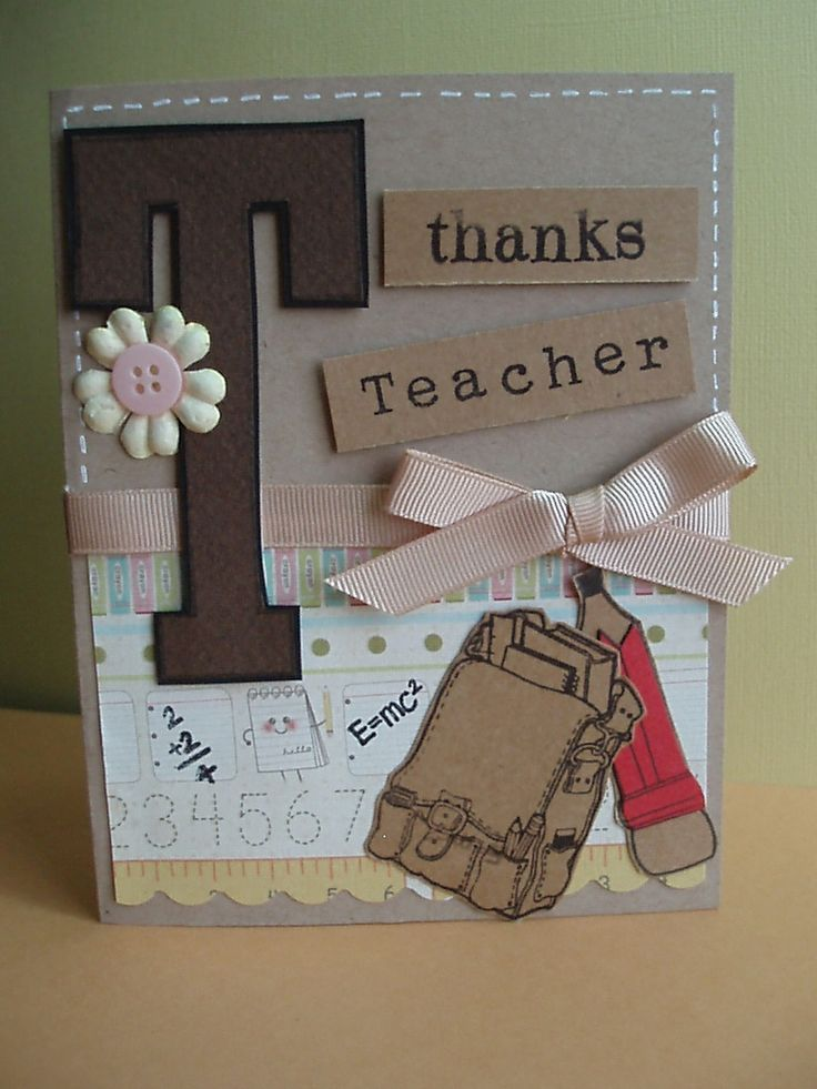 Handmade Teachers Day Cards - Bing Images