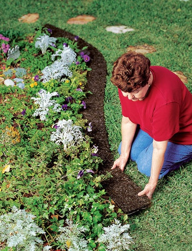 this is not a diy.  I just thought this rubber edging was a great idea for small gardens.