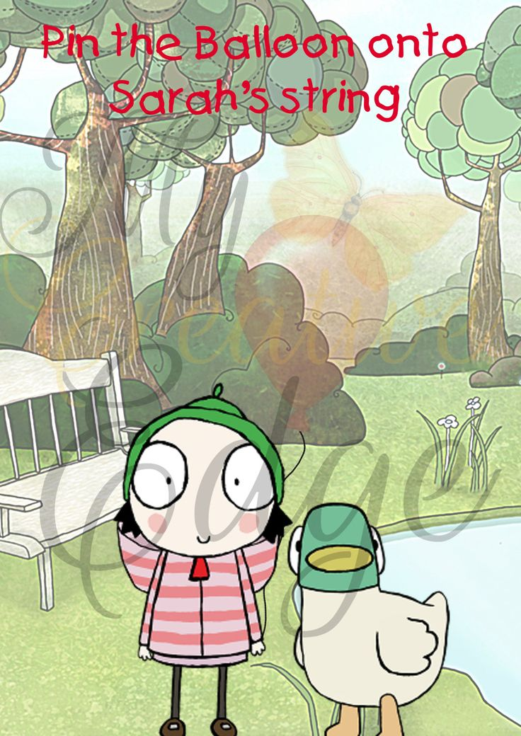 Sarah and Duck - Party Game - Pin the Balloon onto Sarah's string by MyCreatve3dge on Etsy