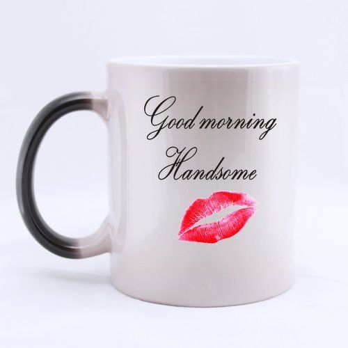 Good morning Handsome Ceramic Morphing Mug11 ounces >>> To view further for this item, visit the image link.
