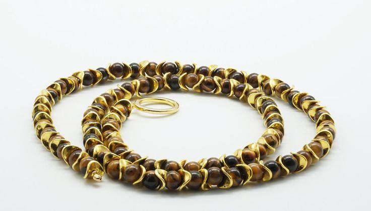 Occhio di tigre - collana a y occhio di tigre - un prodotto unico di tizianat su DaWanda