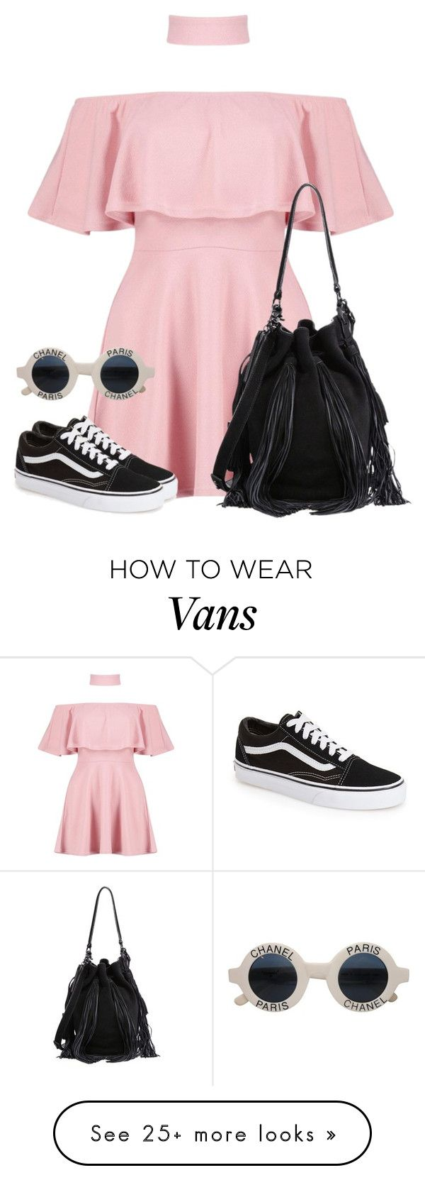 """Untitled #2040"" by i-am-leia on Polyvore featuring Boohoo, Vans, Chanel and Loeffler Randall"