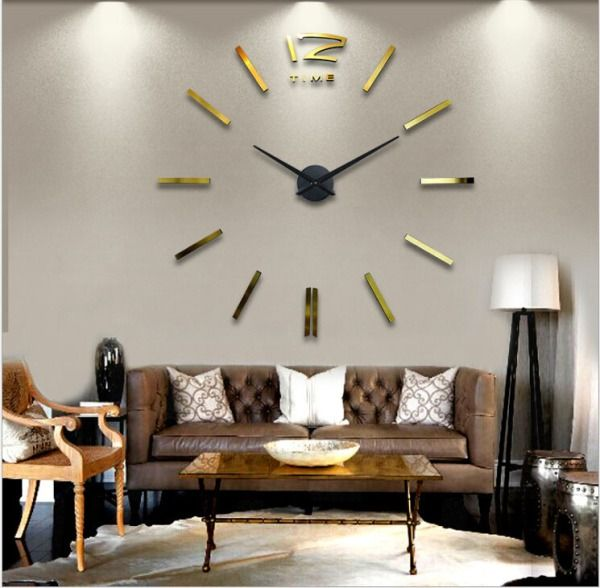 Some individuals need to own one thing elegant in their lounge, however sadly, they are doing   not recognize what to try and do. If you think about yourself joined of these individuals,   then you would possibly need to do the gold lounge wall clocks concepts. The gold color theme   of the clock can for sure offer the elegant impression from your lounge.