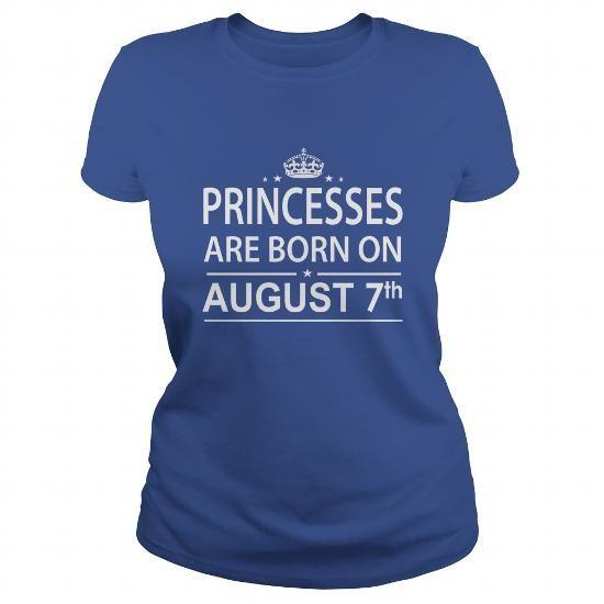 Cool 0807 August 7 Birthday princess born Shirts T Shirt Hoodie Shirt VNeck Shirt Sweat Shirt Youth Tee for Girl and Men and Family T shirts