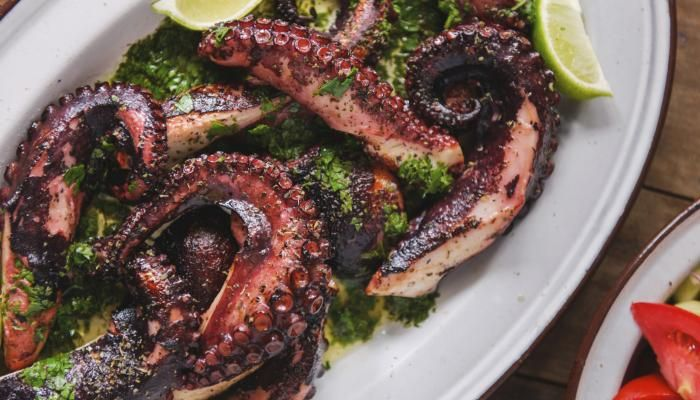 Grilled Octopus | The Splendid Table.  The image is spectacular.  As I am sure is the taste.
