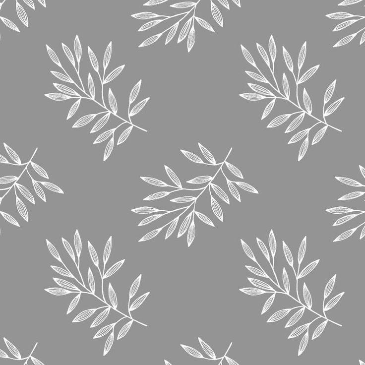 Pattern. #illustration #sketch #fineliner #branch #leaves #botanical #pattern