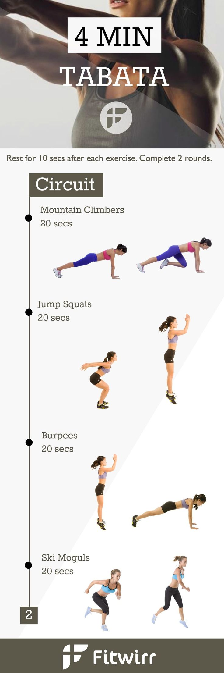 Tabata Workout for Maximum Fat Burning - There is no need to do 1 hour of cardio just to burn a few hundreds of calories. With Tabata workouts, you can burn just as much calories in 4 mins.