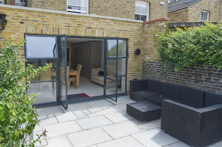 Fulham in Fulham, Greater London, Side Return Extension, Side Extension, Kitchen Extension, Victorian Terraced House, Bi-Fold Doors, Kitchen, Rear Extension, Roof-lights, Glass Roof, Kitchen, Pitched Roof, Side Return Ideas, Kitchen Extension Ideas