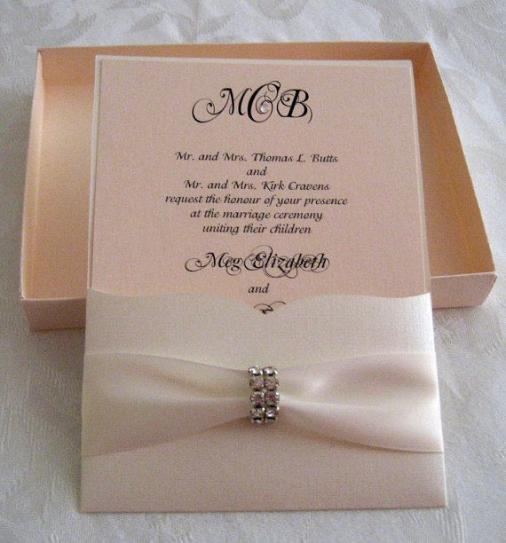 Boxed Monogram Invitation by Pamperedpaperie on Etsy, $8.00