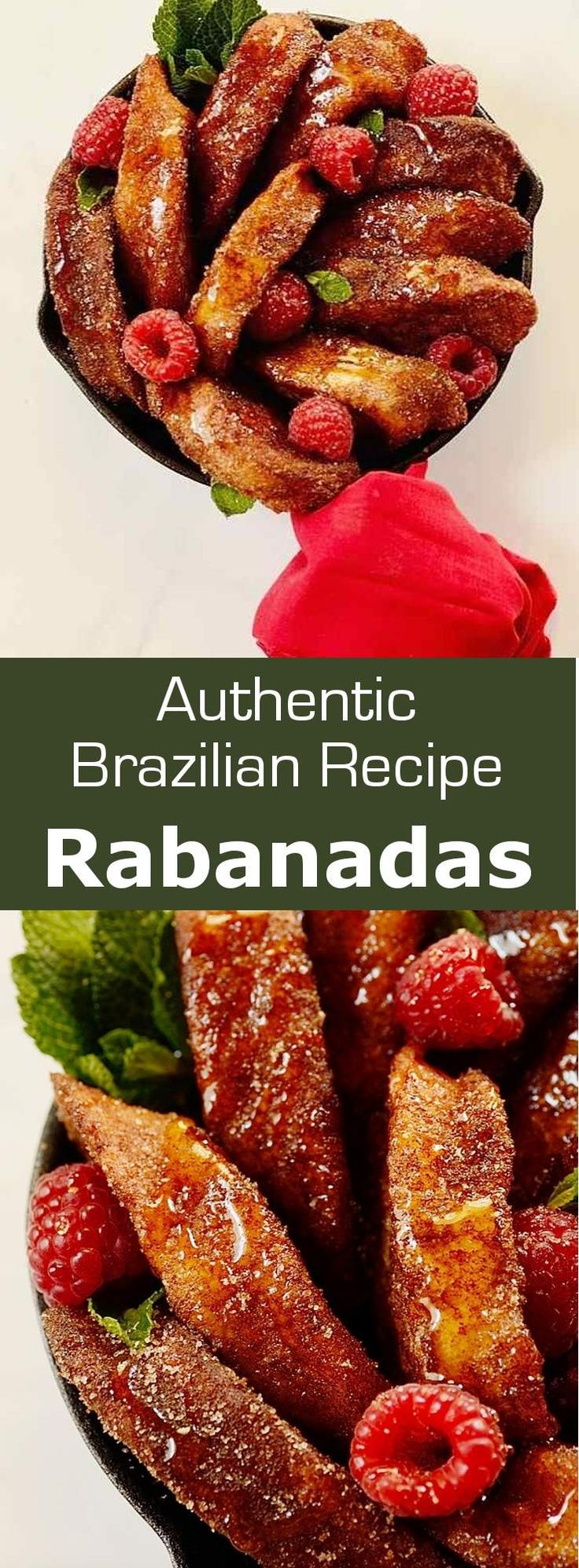 Brazilian French Toast (rabanada) is a dessert or afternoon snack soaked in flavored milk, coated in beaten eggs, fried, and sprinkled with sugar-cinnamon. #christmas #dessert #Brazil #196flavors
