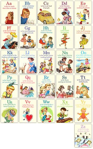 A is for Apple Flashcards by Pretty Little Studio, via Flickr
