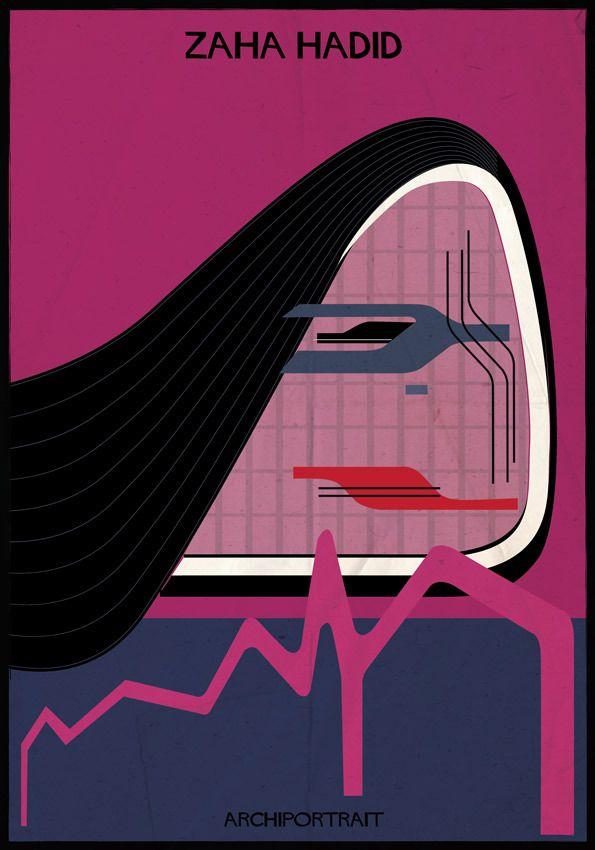 Zaha Hadid in ARCHIPORTRAIT byFederico Babina:
