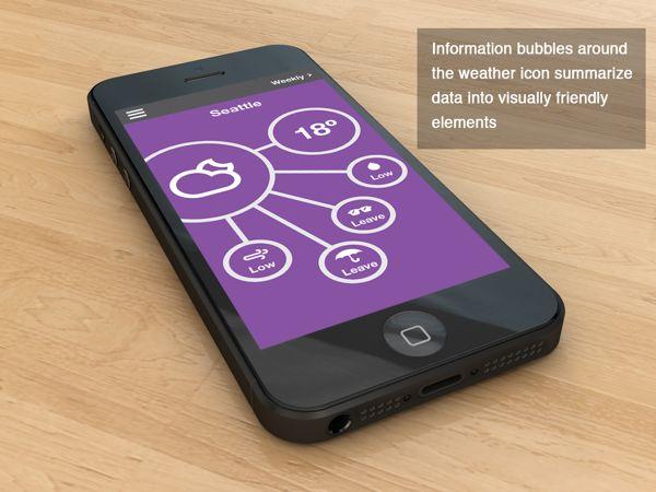 Bubble weather app