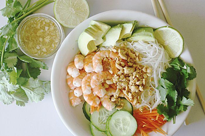 salade thai vermicelles de riz crevettes 05