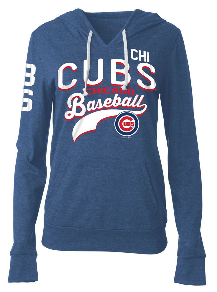 Chicago Cubs Jersey Pullover Hood #ChicagoCubs #Cubs #FlyTheW SportsWorldChicago.com