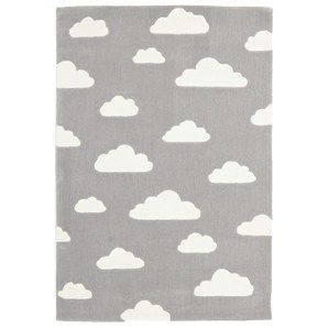 Dreamy Clouds Kid Rug in Grey - 220x150cm