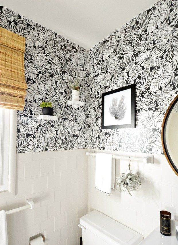 Sources For Peel Stick Wallpaper Wallpaper Bathroom Walls Bathroom Wallpaper Modern White Bathroom