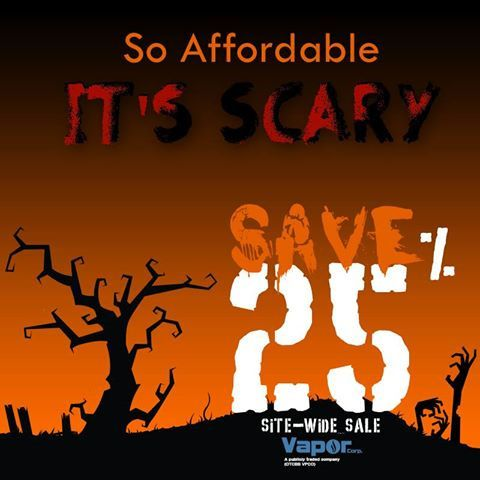 Sitewide-sale at vapor corp. Save 25% Enter BOO25 @ checkout and start saving. Sale ends 11/1/2013. Visit now www.smoke51.com   We have the latest e-cigarette models and a great variety of e-liquid flavors. Visit us at www.e-cigarilicious.com