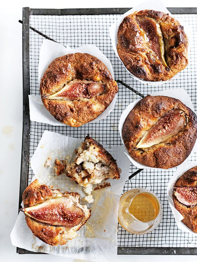 fig and ricotta almond muffins from donna hay