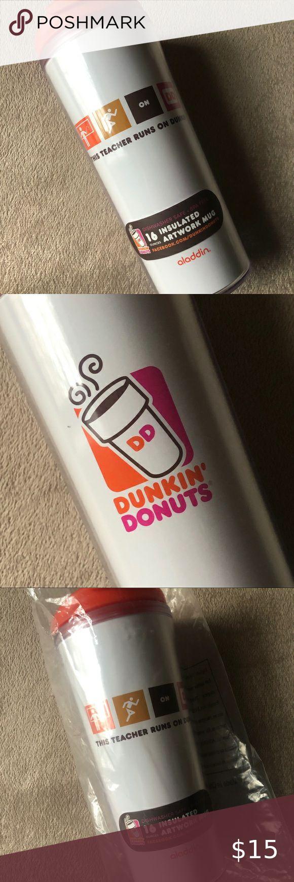 NEW Dunkin Donuts 16oz Artwork Tumbler NWT in 2020