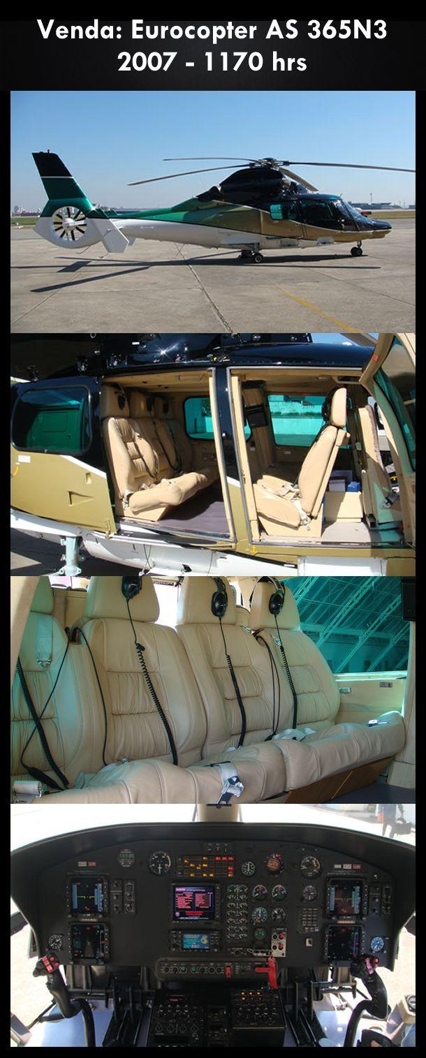 Aeronave à venda: Eurocopter AS 365N3 , 2007, 1170 hrs. #eurocopter #airbus #as365n3 #airsoftanv #aircraftforsale #aeronaveavenda #pilot #piloto #helicoptero #aviation #aviacao #heli #helicopterforsale  www.airsoftaeronaves.com.br/H198