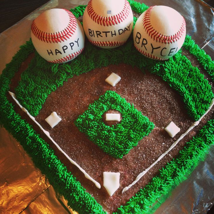 Rawlings Baseball Birthday Cake!