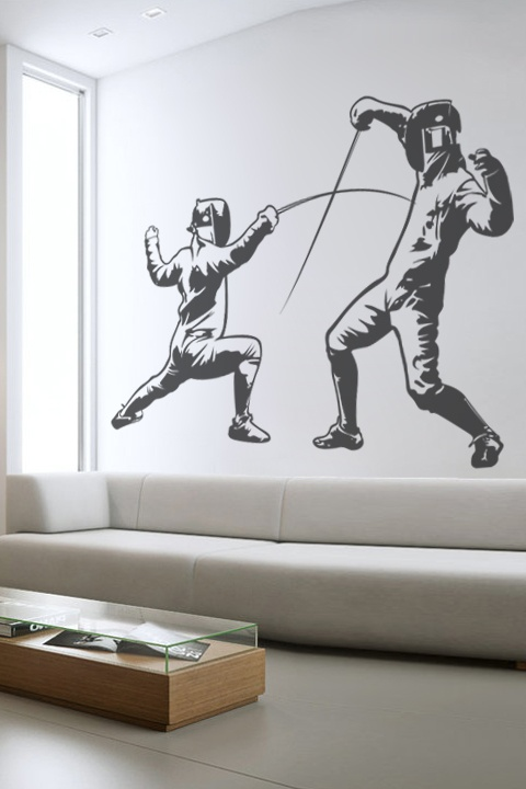 French Fencing wall decal by WALLTAT.com