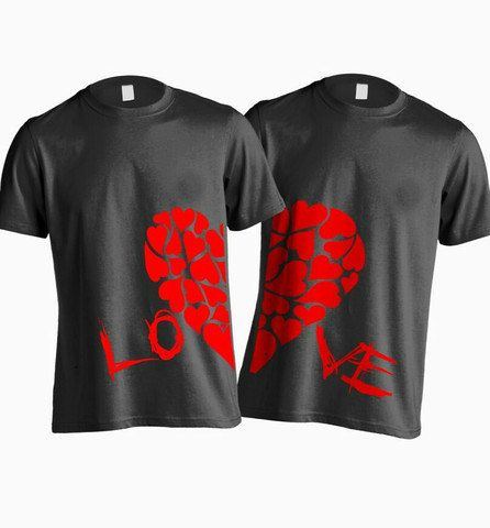 LOVE Couples T-shirt Set LOVE Couples Shirt Set Couples
