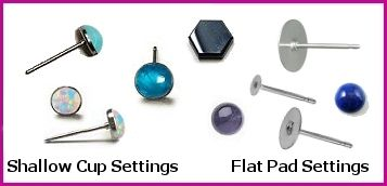 Titanium & Niobium Post Opal & Cabochon Earrings at Wear Earrings Again with Maggie's Creations - Non-Allergenic Jewerly.