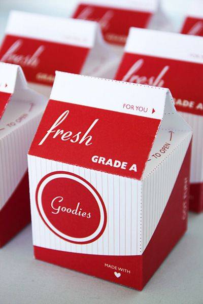 Free Printable Milk Carton (great for small gifts, favors etc)