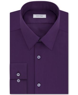 CALVIN KLEIN Calvin Klein STEEL Men's Slim-Fit Non-Iron Performance Herringbone Dress Shirt. #calvinklein #cloth # dress shirts