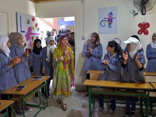 Celebrating her first day as an adult Sunday, 18-year-old Nobel Prize-winner Malala Yousafzai did the gift-giving -- a girls school for Syrian refugees in Lebanon.