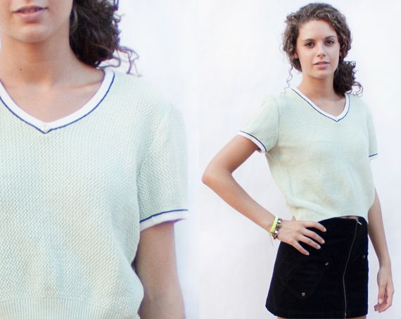 NEW IN!! Vintage top sweater | Jersey ombliguero vintage: http://marlet-shop.com/products/jersey-top-1980s-vintage-top-sweater-1980s