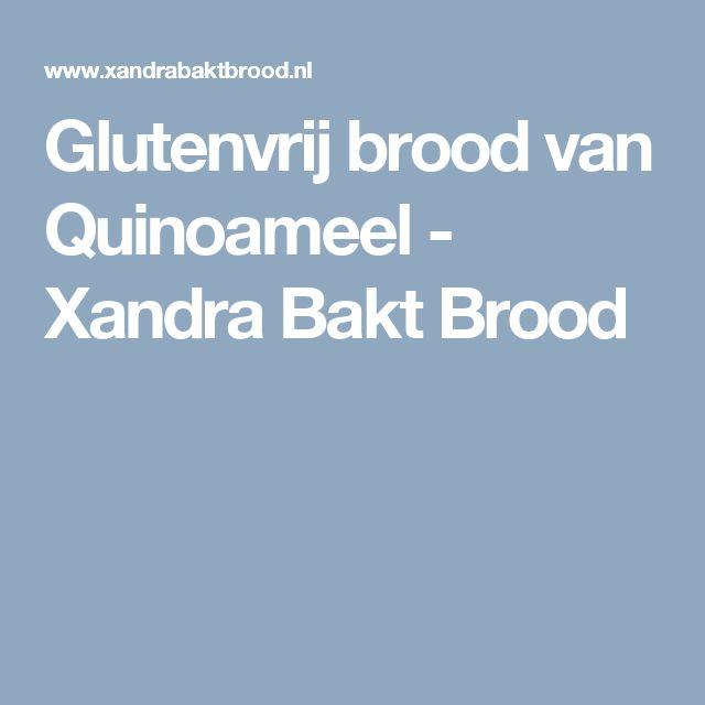 Glutenvrij brood van Quinoameel - Xandra Bakt Brood