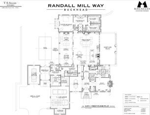 For sale: $3,250,000. Randall Mill Way is an exclusive enclave of 5 exceptional, 1+ acre custom home sites accessible from a new cul-de-sac off Randall Mill Rd. This home will sit on a large, private lot in one of the most sought after locations in Buckhead with excellent schools, shopping/dining and access to I-75 within a 2 mile drive. Macallan Custom Homes has carefully selected renowned T.S. Adams Studio, a high-end, full-service architecture firm, to design this extraordinary…