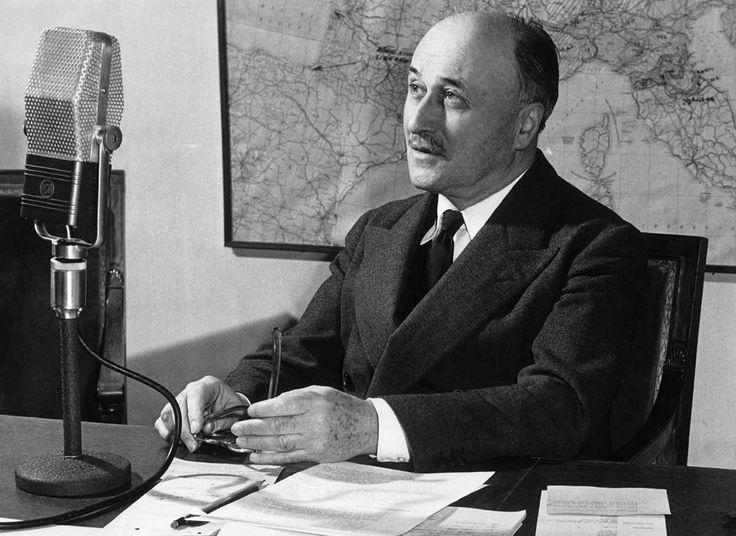 Lettre de Jean Monnet à Georges Bidault, Président du Conseil:  «La contribution qu'une Europe organisée et vivante peut apporter à la civilisation est indispensable au maintien des relations pacifiques.»